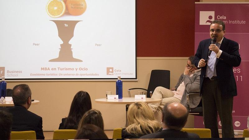 Rafael Mesa en la Presentación MBA Turismo de IMF Business School