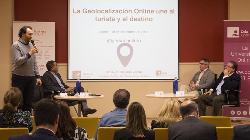 Gersón Beltrán en la Presentación MBA Turismo de IMF Business School