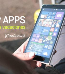 Mejores aplicaciones de móvil para tus vacaciones