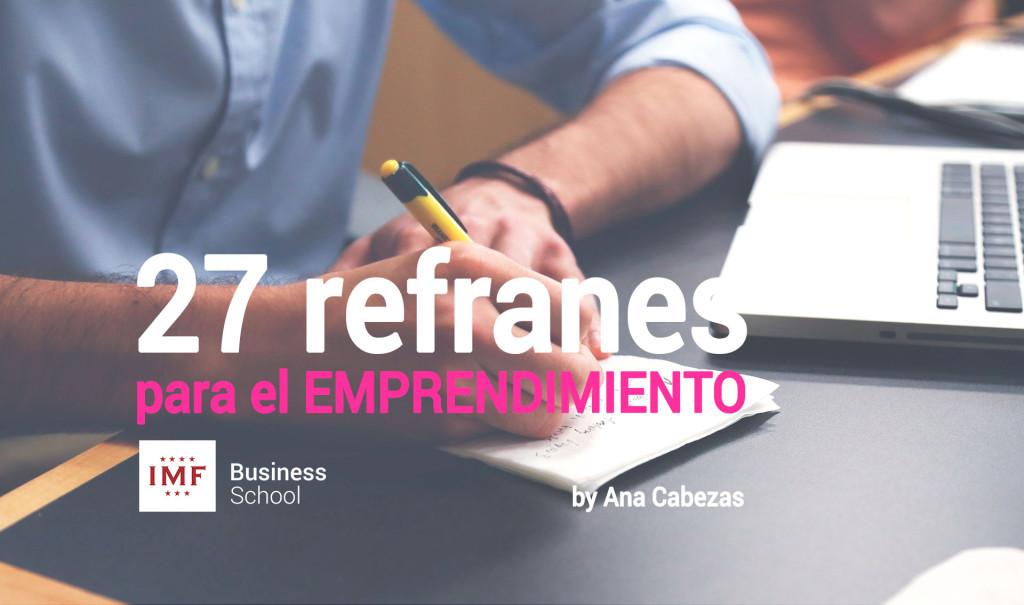 27 refranes para emprender un negocio