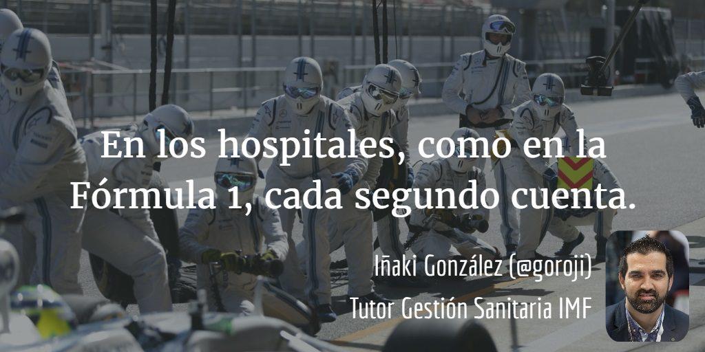 Hospitales y Fómula 1 cada segundo cuenta