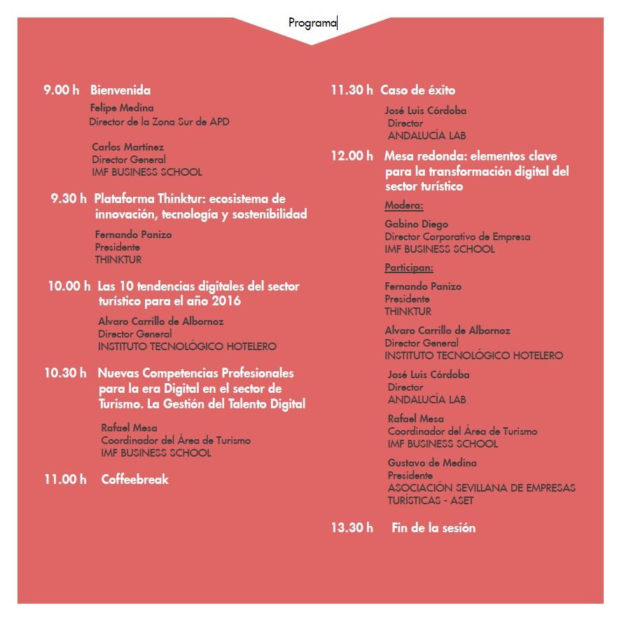 Programa Evento Turismo Sevilla