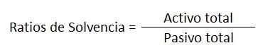 Formula ratios de solvencia