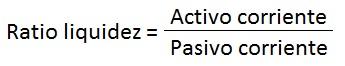 fórmula ratio liquidez