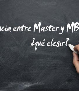 Diferencia Master y MBA qué elegir