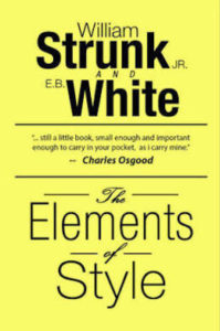 Los elementos del estilo, de William Strunk Jr. Y E.B. White.