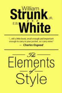 Los elementos del estilo, de William Strunk Jr. Y E.B. White.